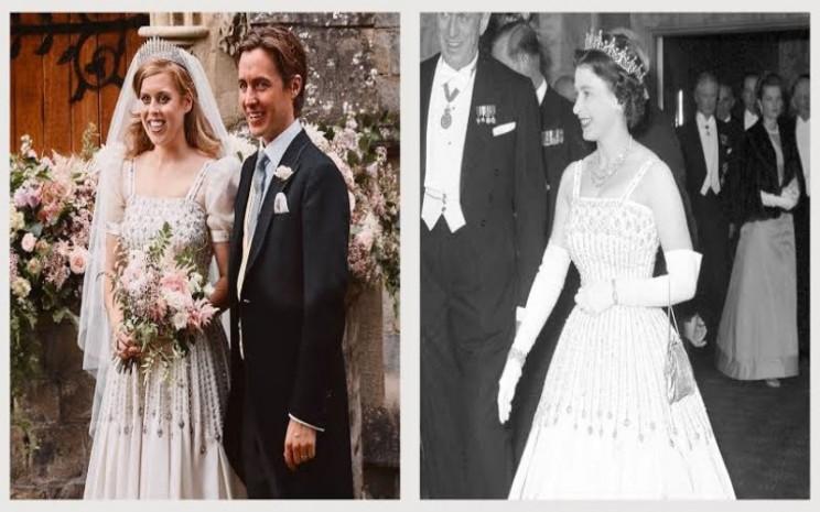 Gaun pengantin Putri Beatrice