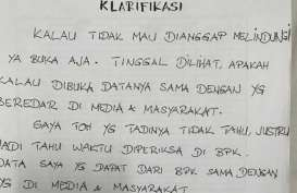 Melalui Tulisan Tangan, Benny Tjokro Minta Data Koleksi Saham Jiwasraya Dibuka