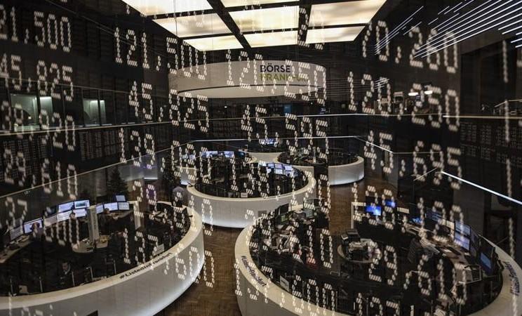 Ilustrasi-Bursa Efek Frankfurt. -  Alex Kraus / Bloomberg