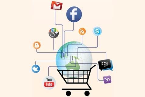 Memanfaat media sosial dalam bisnis. - ilustrasi