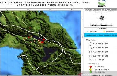 Warga di Luwu Timur Diminta Mewaspadai Peningkatan Kegempaan di Sesar Matano