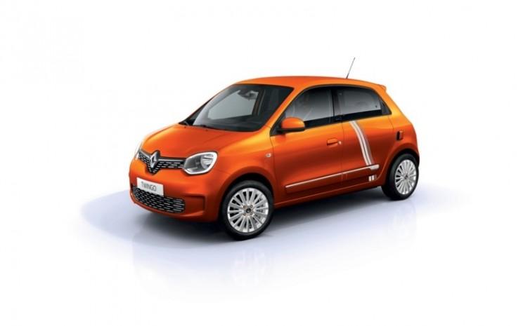 Renault Twingo. Sesuai dengan gagasan dualitas, Vibe Limited Series juga tersedia dalam palet warna yang tersedia di Twingo Electric. - Renault