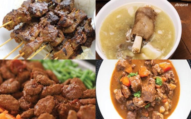 Ilustrasi olahan makanan di hari raya Iduladha
