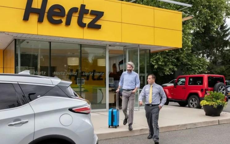 Salah satu kantor layanan sewa mobil Hertz.  - Hertz Corporation.