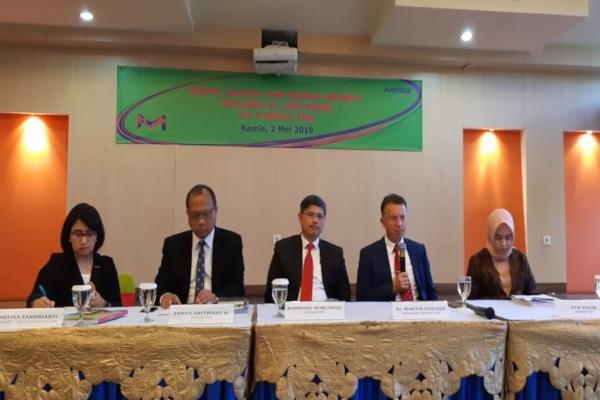 Jajaran direksi PT Merck Tbk.dalam public expose yang digelar di Jakarta pada Kamis (2/5/2019). - Bisnis/Azizah Nur Alfi
