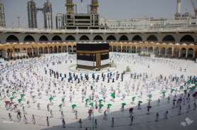 Foto-foto Sepinya Ibadah Haji 2020 di Masjidil Haram