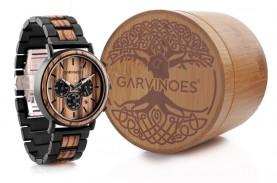 Garvinoes, Jam Tangan Vintage Modern Berbahan Kayu