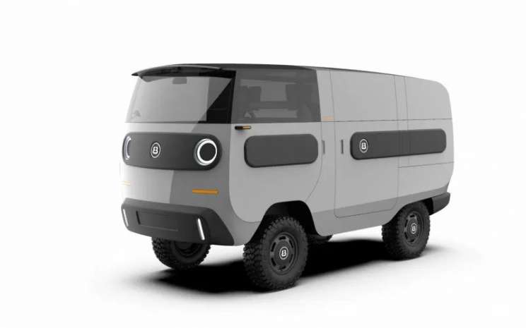 Model kendaraan listrik eBussy.  - ANTARA