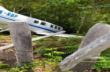Pesawat Terbang Milik Tariku Aviation Alami Kecelakaan di Papua