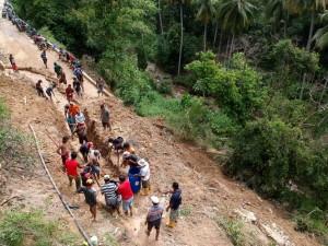 Tanah Longsor di Gorontalo Mengkaibatkan Satu Desa Terisolasi