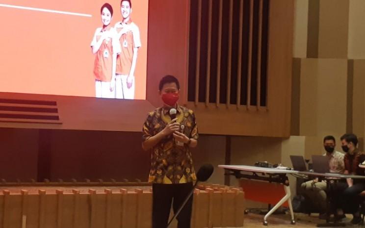 Presiden Direktur Ace Hardware Indonesia Prabowo Widyakrisnadi dalam paparan publik perseroan di Gedung Kawan Lama, Jakarta Barat, Rabu (5/8/2020).  - Ria Theresia Situmorang