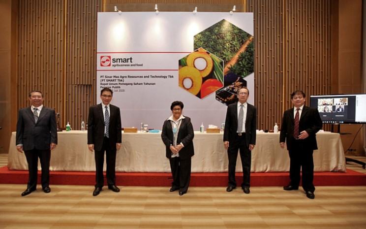 Emiten perkebunan, PT Sinar Mas Agro Resources and Technology Tbk., absen membagikan dividen final untuk tahun buku 2019 kepada pemegang saham, sesuai keputusan Rapat Umum Pemegang Saham Tahunan (RUPST) pada Rabu (15/7 - 2020). Istimewa