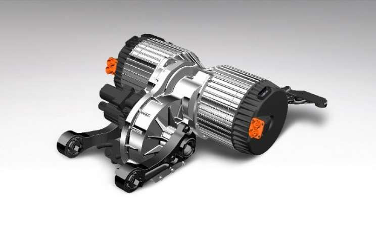 Bentley Octopus e-Axle. Bentley akan menghadirkan mobil sepenuhnya elektrik pada 2026.  - Bentley