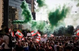 Demontrasi Pecah di Beirut, Seorang Polisi Tewas dan 142 Terluka
