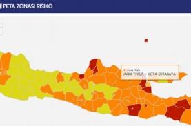 Satgas Covid-19 Jatim : Zona Oranye Surabaya Masih…