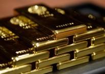 Tumpukan emas batangan./Bloomberg