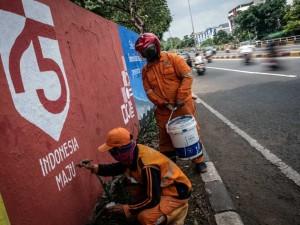 Tembok di Jalanan DKI Jakarta Mulai Digambar Mural Kemerdekaan