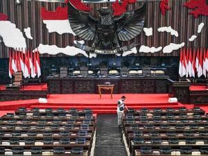Gedung DPR/MPR Mulai Bersolek Jelang Sidang Tahunan MPR dan Pidato Kenegaraan Presiden