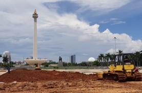 Jelang HUT ke-75 Kemerdekaan RI, Monas Terus Dibenahi