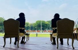 Jokowi Saksikan Geladi Kotor Upacara HUT ke-75 RI di Istana