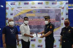 Bea Cukai Kuala Langsa Lepas Ekspor Perdana Cangkang Kelapa Sawit