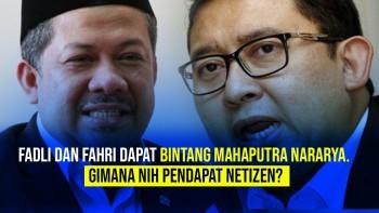 Fadli dan Fahri Dapat Bintang Mahaputra Nararya. Gimana Nih Pendapat Netizen?