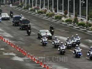 Rombongan Presiden Joko Widodo Memasuki Komplek Parlemen Untuk Mengikuti Sidang Tahunan MPR RI dan Sidang Bersama DPR-DPD
