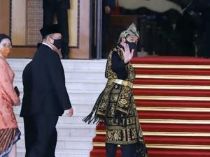 Presiden Joko Widodo Tiba di Komplek Parlemen Untuk Mengikuti Sidang Tahunan MPR