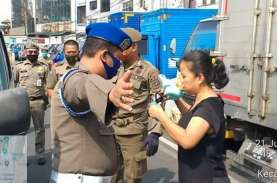 Tidak Pakai Masker di Bogor, Dikenakan Denda Rp100.000…