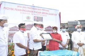 Pembangunan Pasar Umum Rakyat Gianyar Bali Rampung…