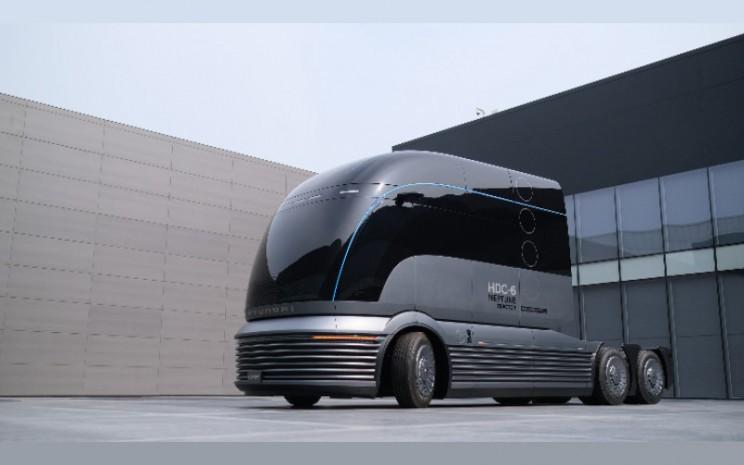 HDC/6 Neptune menggunakan struktur padat dengan desain depan yang halus dan bulat untuk menciptakan kerangka yang sepenuhnya unik untuk truk listrik bertenaga hidrogen. Hyundai