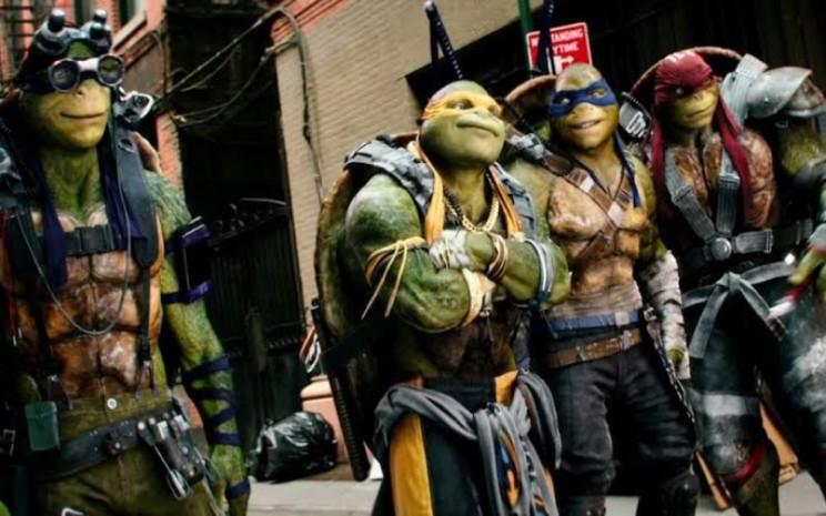 Cuplikan film The Teenage Mutant Ninja Turtles