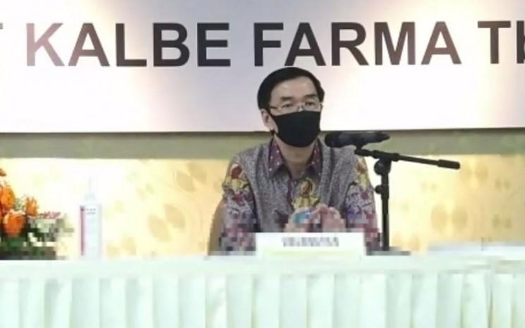 Presiden Direktur PT Kalbe Farma Tbk. Vidjongtius dalam rapat umum pemegang saham 2019 di Jakarta, Senin (18/5/2020).  - Kalbe
