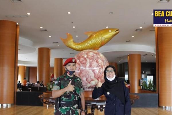 Bea Cukai Sampit Jalin Koordinasi dengan Pos Pengamat TNI AL (Posmat) Samuda