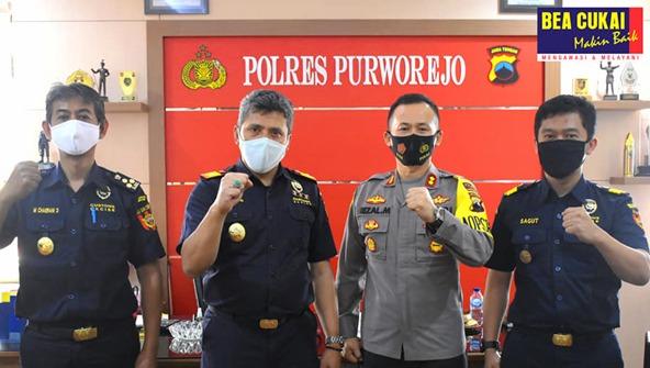 Tingkatkan Pengawasan, Bea Cukai Magelang Sinergi Bersama Polres Purworejo