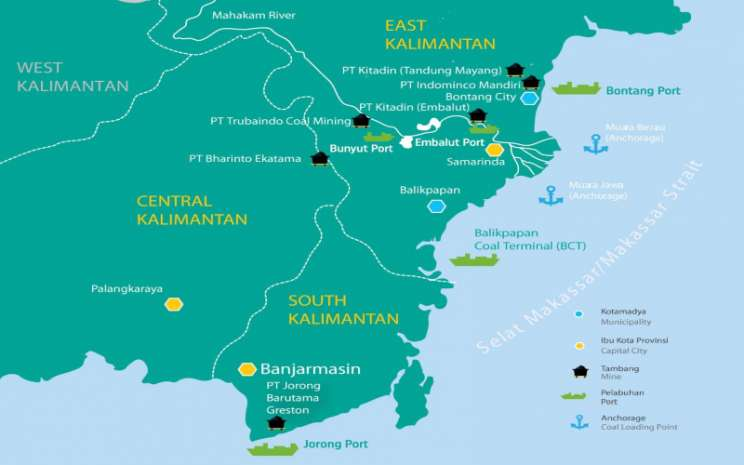 Peta operasi ITMG. Istimewa