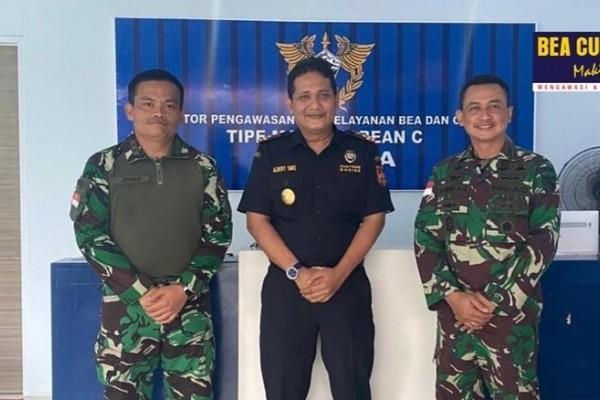 Kepala Kantor Bea Cukai Jayapura Terima Kunjungan Komandan Kodim 1701/Jayapura Rem 172/PWY