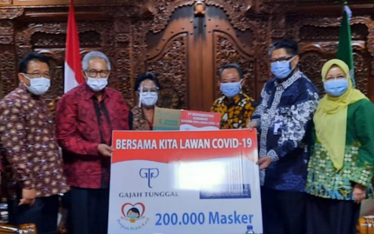 Gajah Tunggal Grup memberikan 200.000 masker kepada PP Muhammadiyah, Selasa (25/8 - 2020). Istimewa