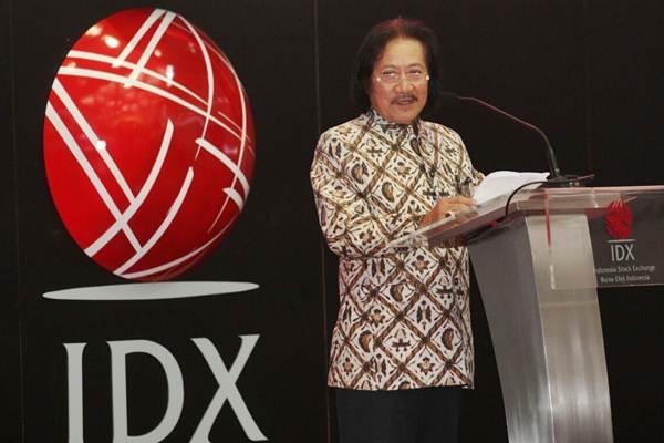 Ketua Umum Asosiasi Emiten Indonesia (AEI) Franciscus Welirang  menyampaikan sambutan pada  CEO Focus 2017 dengan tema Tantangan Dunia Usaha dan Pengembangan Pasar Modal, di Jakarta,  Senin (6/11). - JIBI/Dedi Gunawan