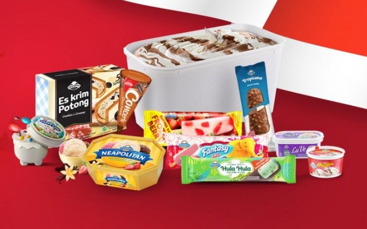 Produk es krim buatan PT Campina Ice Cream Industry Tbk. - Campina