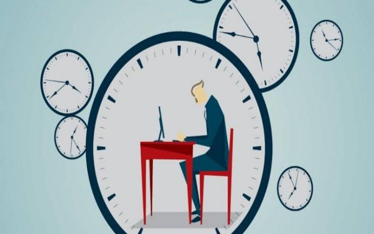 Ilustrasi jam kerja