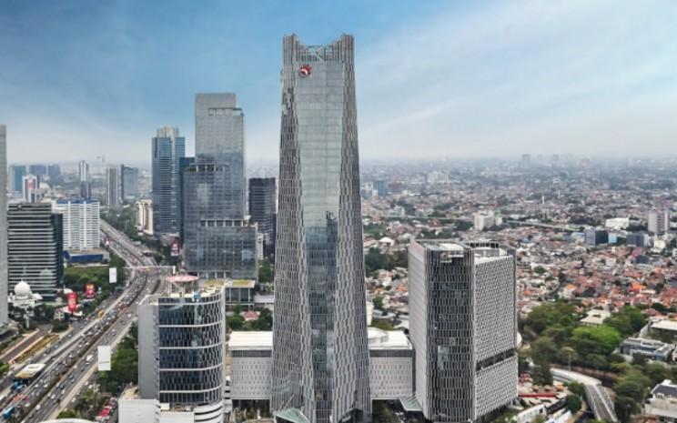 Gedung perkantoran Telkom Landmark Tower di bilangan Gatot Subroto.  - tlt.co.id