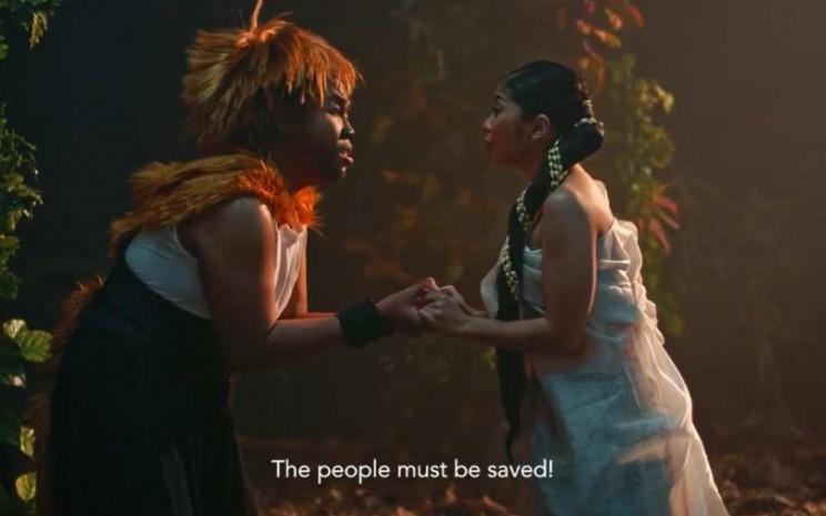 Kisah Lutung Kasarung menjadi penutup program MusikalDiRumahAja Galeri Indonesia Kaya. - Nirmala Aninda