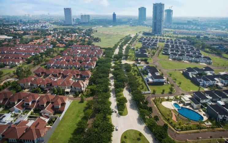 Kawasan permukiman besutan PT Alam Sutera Tbk. di Tangerang. Alam Sutera memiliki beberapa segmen andalan yang menopang penjualan properti perseroan mulai dari properti hunian hingga properti komersial seperti perkantoran dan pusat perbelanjaan. - alam/sutera.com