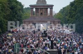 Tolak Lockdown, Puluhan Ribu Orang Unjuk Rasa di Berlin, Jerman