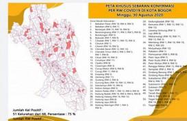 Dua Hari Terakhir, Zona Merah Corona di Kota Bogor Meningkat