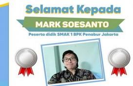 Hebat, Mark Soesanto Raih Medali di Ajang Olimpiade Kimia Internasional
