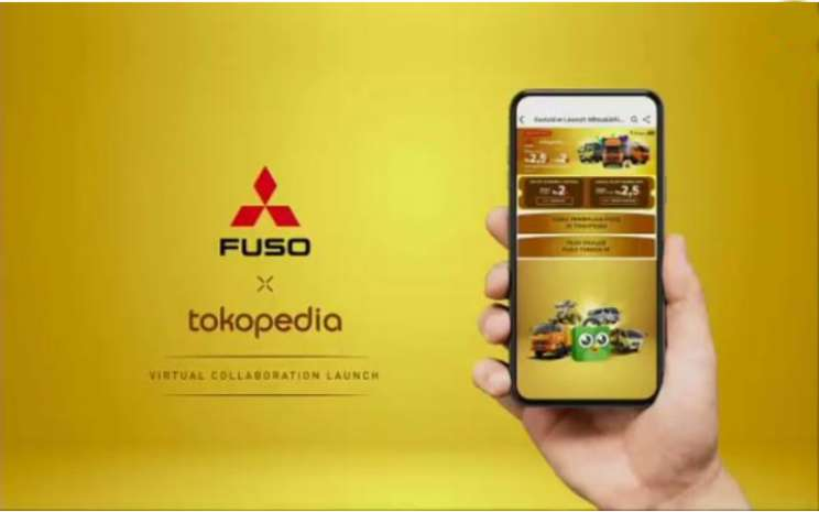 Pembukaan Dealer Digital Mitsubishi Fuso di Tokopedia merupakan kemitraan pertama bagi pabrikan kendaraan niaga tersebut dengan perusahaan marketplace.  - BISNIS.COm