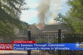 Waduh! Rumah Konsulat Jenderal RI di Chicago Hangus…