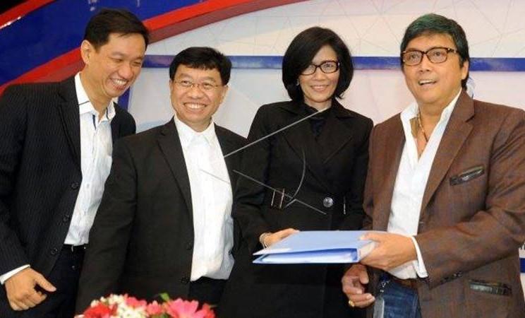 Komisaris Utama PT Global Mediacom Tbk Rosano Barack (kanan) - Antara